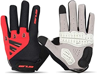 JCCOZ Touch Screen Gloves Riding Gloves Full Finger Long Finger Touch Screen Cycling Equipment Winter Running Gloves (Color : Red, Size : S)