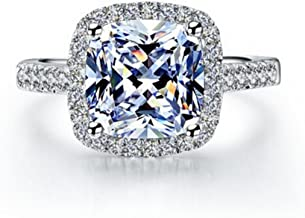 TenFit Jewelry 3 Carat VVS1 Simulated Diamond Engagement Ring for Women Silver Wedding Jewelry