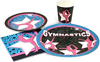 Blue Orchards Gymnastics Standard Party Packs (65+ Pieces for 16 Guests!), Gymnastics Party Supplies, Birthday, Competition