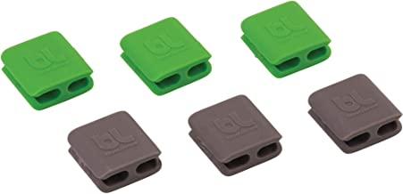 BlueLounge Cableclip, Dark Grey and Green, Small