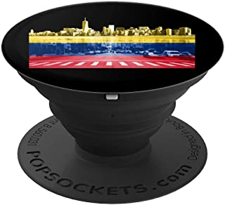 New York City Manhattan Colombian Flag Colombia NYC Skyline  PopSockets Grip and Stand for Phones and Tablets