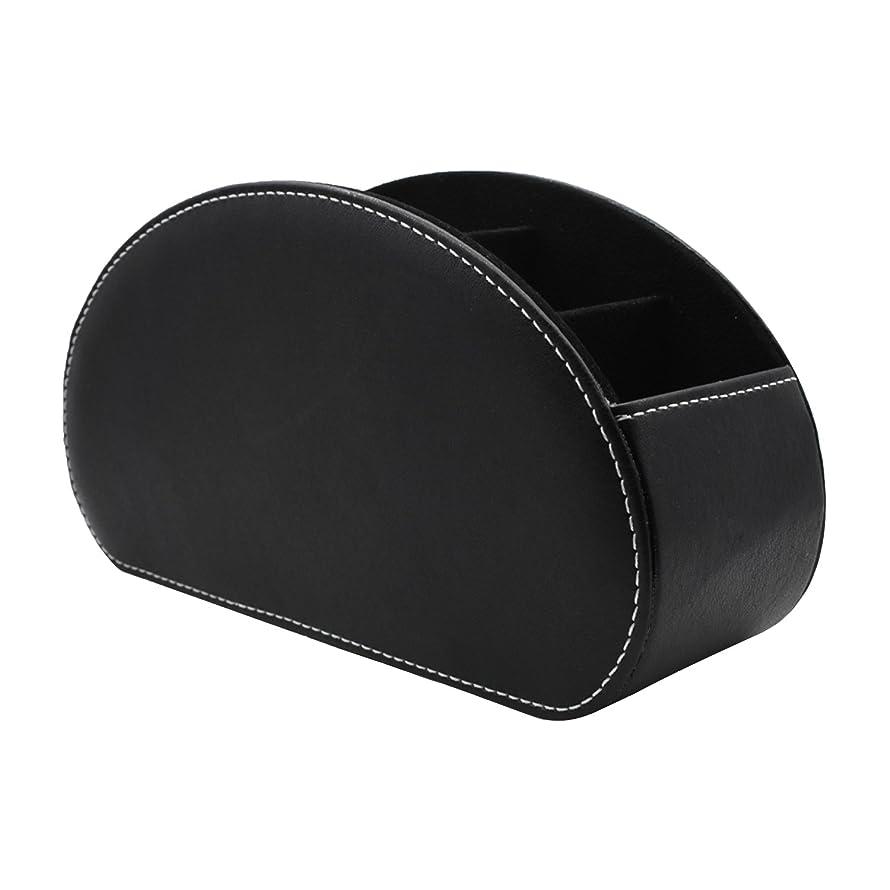 率直なペストアセンブリE-Goal リモコンラック 多機能収納ボックス PUレザーボックス 卓上小物