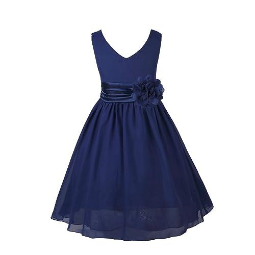 Navy Blue Flowergirl Dresses