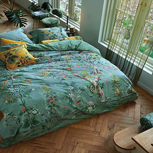 PiP Wendebettwäsche Wild and Tree Perkal grün Größe 135x200 cm (80x80 cm)