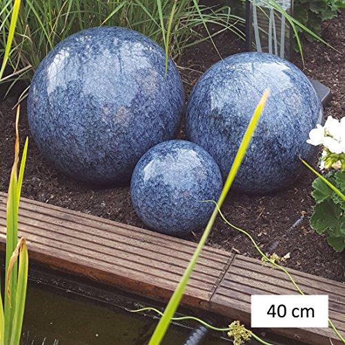 Garten & Ambiente Dekorationskugeln Marmor Blau, D 40 cm - (DK 100 047)