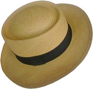005493cf84793 Gamboa Genuine Unisex Panama Hat Summer Sun Hat UPF50 Gambler Straw Brown