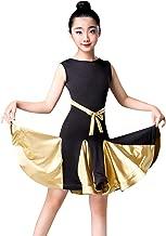 Happy Cherry Kids Latin Dress,Girls Sleeveless Rumba Samba Costume Dance Dress