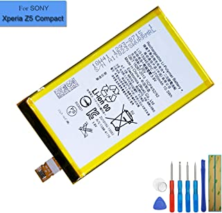 New Replacement Battery LIS1594ERPC Compatible with Sony Xperia Z5 Compact E5803 E5823 S50 SO-02H Xperia Z5c with Tools