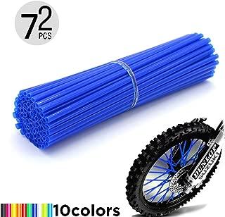 Motorcycle Spoke Skins, 72pcs/lot 24cm Universal Colorful Motocross Dirt Bike Spoke Covers for 8