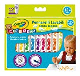 CRAYOLA- Mini Kids Pennarelli, Inchiostro Super Lavabile, Punta Arrotondata di Sicurezza, ...