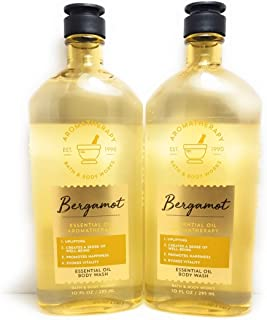Bath and Body Works 2 Pack Aromatherapy Bergamot Essential Oil Body Wash 10 Oz.