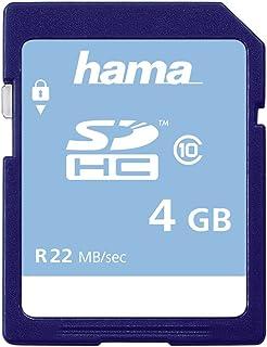 Hama Speicherkarte SDHC 4GB (SD 2.0 Standard, Class 10, High Speed, Datensicherheit dank mechanischem Schreibschutz, Beschriftungsfeld)