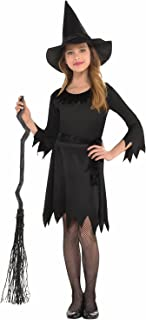 Classic Black Witch Costume for Kids | Small (4-6) | 3 Pcs.