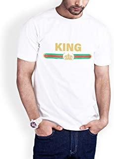 Casual Printed T-Shirt for Men, King, White