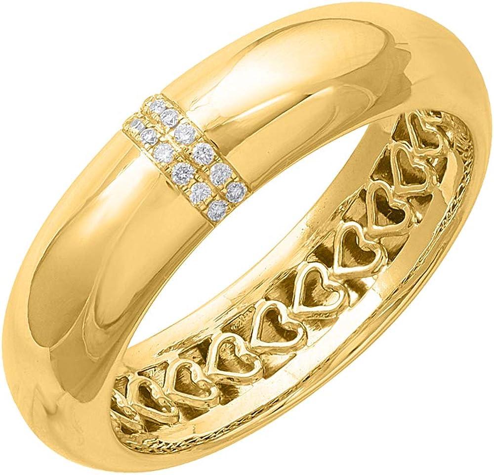0.05 Carat Diamond Wedding Band Super sale period Spring new work limited Ring in Gold Certified - 10K IGI