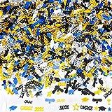HOWAF 2021 Laurea Decorazioni Feste Coriandoli, 2 Oz / 1500 Pezzi, Decorazioni per Tavolo di Laurea Gadget Regalo, Oro, Nero, e Blu Congrats, Stelle, 2021, Cappellino di Laurea, Calice, Diploma