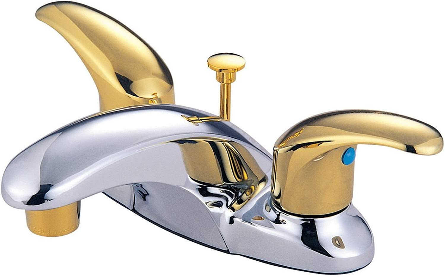 Kingston Brass KB6624LL Legacy 4-Inch Centerset Lavatory Faucet with Pop Up, Polished Chrome and Polished Brass