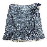 WAEKQIANG Conjunto De Faldas De Mujer con Falda Corta Falbala De Cintura Alta Faldas De ImpresióN Irregular para Mujer