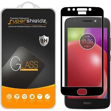 Supershieldz (2 Pack) for Motorola (Moto E4) and Moto E 4th Generation Tempered Glass Screen Protector, (Full Screen Coverage) Anti Scratch, Bubble Free (Black)