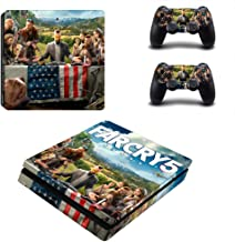 Playstation 4 Slim Skin Set - Far Cry 5 HD Printing Vinyl Skin Cover Protective for PS4 Slim Console and 2 PS4 Controller by Mr Wonderful Skin