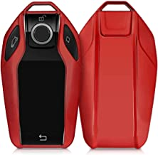JVCV® TPU Car Key Cover Compatible with BMW X Series Key (Red)