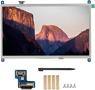 Tosuny Portable Monitor,Touch Screen Monitor 10.1 inch 1024x600 Backlight LCD TFT HDMI Display External Monitor for Raspbe...