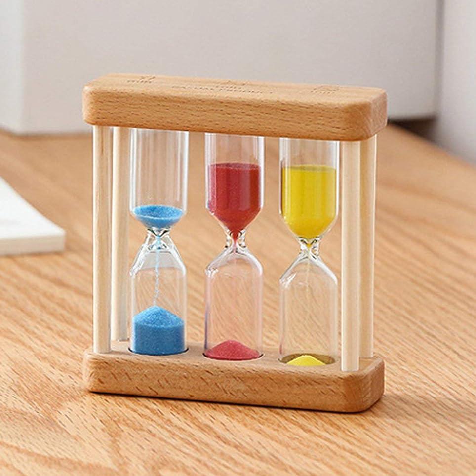発表する結婚バーガーQinKingstore 1/3/5分木製砂時計砂時計タイマー時計家の装飾ギフト用Childernシンプルなスタイル