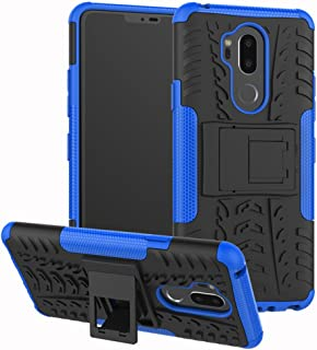 Yiakeng LG G7 Case, Dual Layer Shockproof Wallet Slim Protective with Kickstand Hard Phone Case Cover for LG G7 ThinQ 6.1
