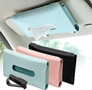 Soporte de tejido de automóvil, soporte de la servilleta del visera del sol de la PU, el soporte de la máscara de tejido c...