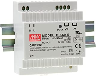DIN Rail PS 60W 24V 2.5A DR-60-24 Meanwell AC-DC SMPS DR-60 Series MEAN WELL Switching Power Supply