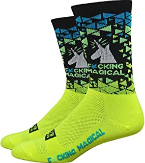 "DeFeet(ディフィート) AI 6"" ソックス [Fcking Magical Unicorn (Yel/Blk)]"