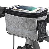 Bicycle BicycleStoreCycling Basket Handlebar Bag with Sliver...
