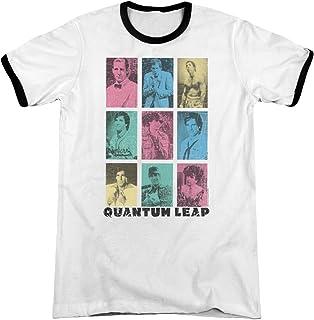 Quantum Leap Faces of Sam Unisex Adult Ringer T Shirt for Men and Women