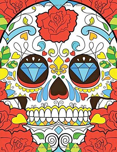 Dia de los muertos skull: Day of The Dead Skull Journal  | Sugar Skull Notebook | Día de los Muertos  2020  Regalo - Libro de Memoria con diseño de ... men adults kids holidays Gifts | 8.5x11 A4