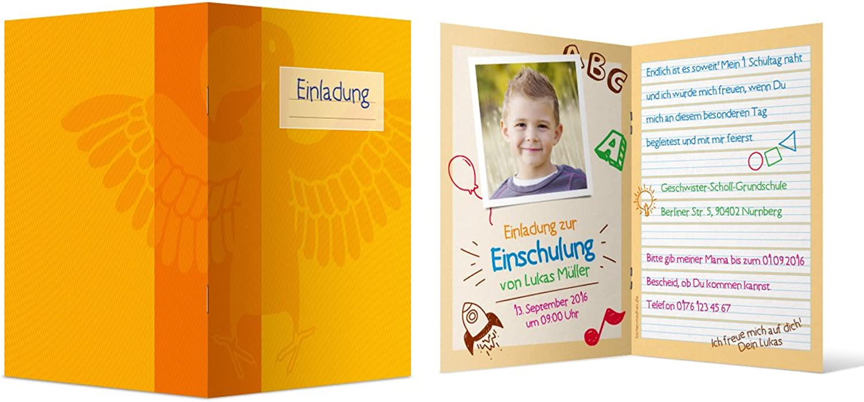 Einladungskarten zur Einschulung Einschulung Einschulung (40 Stück) - Schulheft Lineatur 1 Klappkarten Einladung B01JJ7MA52  | Um Zuerst Unter ähnlichen Produkten Rang  47a57d