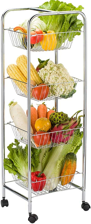 Kitchen Racks, Floor-Standing Microwave Oven Racks, Removable Trolley Storage Racks, Vegetable Seasoning Racks, Space Saving