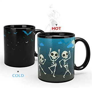 Heat Changing Mug Colour Changing Mug Magical Coffee Mug Tea Cup Perfect Novelty Gift 11OZ-BPA Free Ceramic (Halloween)