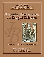 Ignatius Catholic Study Bible: Proverbs, Ecclesiastes, and Song of Solomon