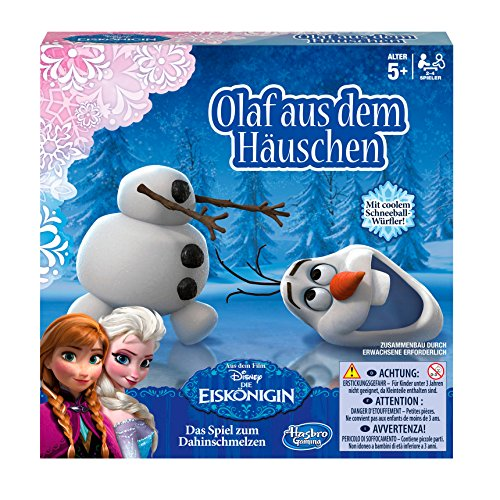 Hasbro Spiele B1646100 - Disney Die Eiskönigin, Olaf aus dem Häuschen, Kinderspiel