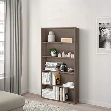 "IKEA NODELAND Bookcase, Grey/Brown 80x24x161 cm (31 1/2x9 1/2x63 3/8"")"