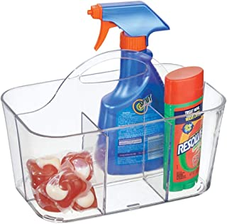 mDesign boîte de rangement transparente pour pinces à linge et Cie – panier de rangement compartimenté – petite caisse de ...