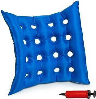 SZETOSY GOODCHANCEUK - Colchón hinchable para movilidad de 40 x 40 cm, PVC, antidolor de cama, para sentarse, silla de ruedas con bomba gratis azul