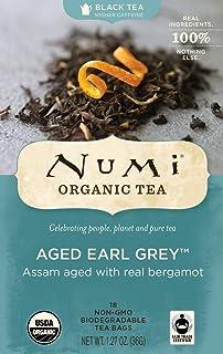 Numi Organic Aged Earl Grey Black Tea - 18 bags per pack - 6 packs per case.