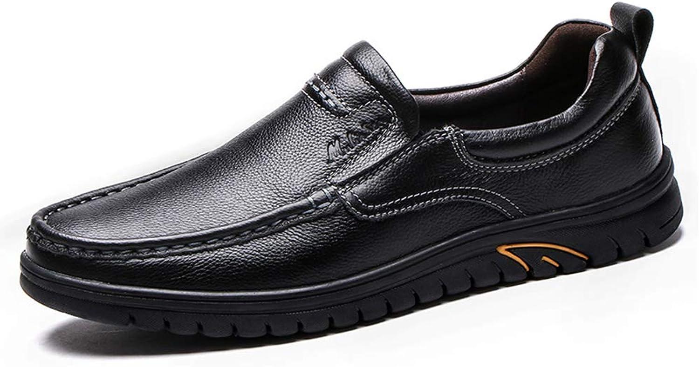 LXLA - Chaussures en Cuir décontractées pour Hommes, Chaussures à Bout Rond pour Hommes (Couleur   Noir, Taille   7 US 6 UK)