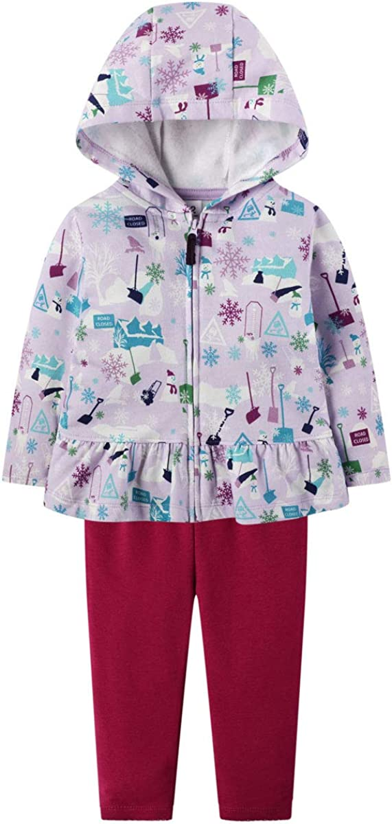 Baby Girl Clothes Set Fleece Jacket Hoodie Sweatshirt Cotton Pants Winter Outfit: Clothing, Shoes & Jewelry