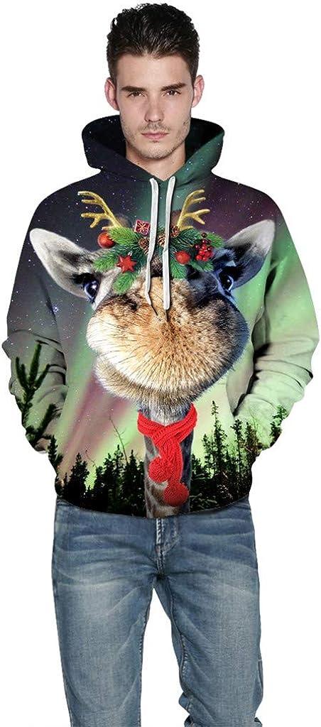 Holzkary Unisex Graphic Print Hoodies 3D Novelty Design Long Sleeve Sweatershirts with Pocket