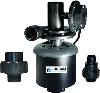 BurCam 300514WH Laundry Tub Pump, Automatic Switch, 1/3 hp, 115V