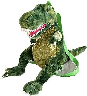 Fashion Women Cute Backpack Plush Dinosaur Bag Student Winter Hand Warmer Bag (Green)