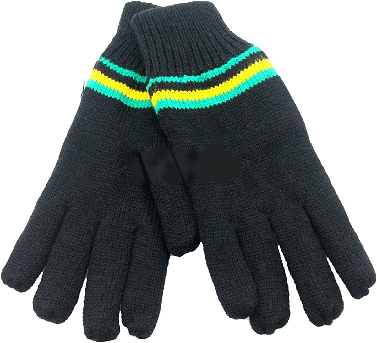 Rimi Hanger 6 Pieces Ladies Insulated Black Gloves Cold Weather Gloves Running Hiking Gloves