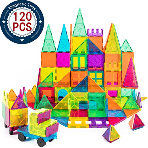 cossy Kids Magnet Toys Magnet Building Tiles 120 Pcs 3D Magnetic Building Blocks Set Educational Toys for Kids Children